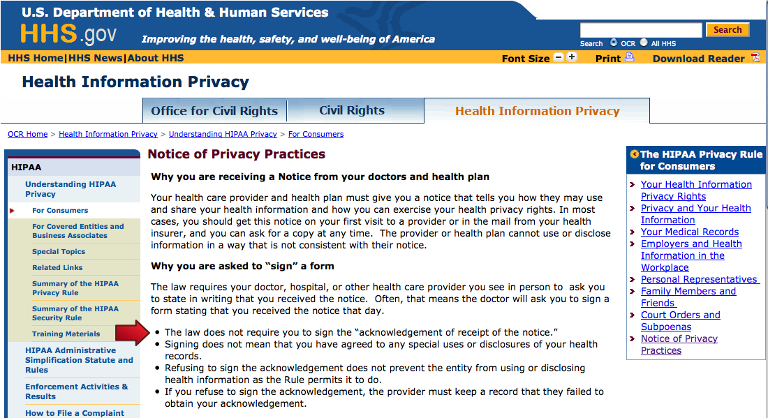 HIPAA Privacy Notice - Why are you asked to sign a form?: Citizens ...
