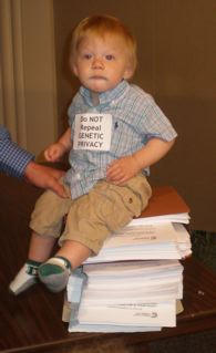 baby sitting on petitions