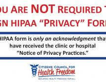 Don't Sign the HIPAA 'Privacy' Notice at the Doctor's Office This Year