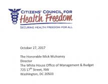 Letter to OMB Director Mulvaney regarding Common Rule