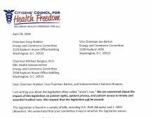 CCHF Letter to Walden, Burgess, & Barton regarding Jessie's Law