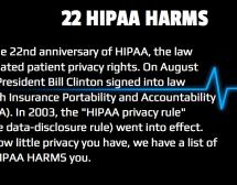 Twenty-Two HIPAA Harms