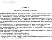 Exhibit D - Data Sharing Contract for MN Exchange