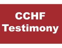 CCHF to Present Written Testimony to U.S. House