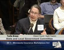 01/16/13 - CCHF Testimony on SF 1 - Minnesota Insurance Marketplace Act