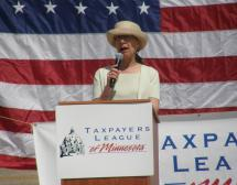 Twila speaking at 2013 Taxpayers Rally