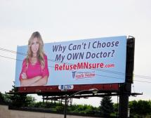 'RefuseMNsure.com' Billboard