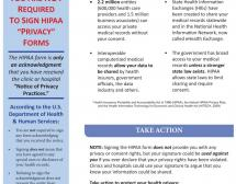HIPAA Action Alert - Refuse to Sign