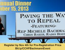 CCHF Annual Fundraising Dinner - Paving the Way to Repeal!
