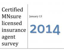 MNsure Licensed Insurance Agent Survey 2014