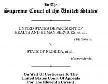 US DEPT OF HEALTH AND HUMAN SERVICES v. STATE OF FLORIDA, et al.,