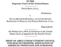 King vs Burwell: Exchange Subsidies, Case No. 14-114, Submitted to SCOTUS, September 3, 2014
