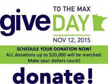Give to the Max Day: Nov 13, 2014